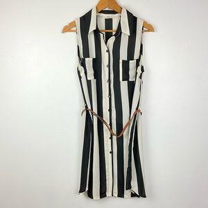 Ezra sleeveless button down  shirt dress